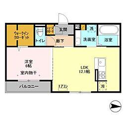 つくばエクスプレス 柏の葉キャンパス駅 徒歩25分の賃貸アパート 3階1LDKの間取り
