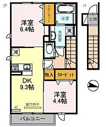 エクレール福井[210号室]の間取り