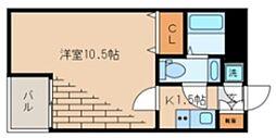 ビバリーホームズ石神井台 2階1Kの間取り