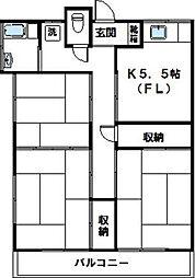 神奈川県川崎市宮前区鷺沼1丁目の賃貸アパートの間取り