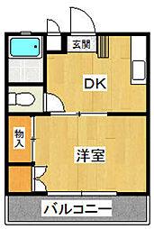 ライフ・モア中尾(旧・ゴールドマンション中尾)[205号室]の間取り