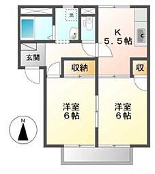 レーベン福島 B[2階]の間取り