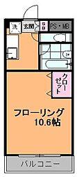 レスペランス[207号室]の間取り