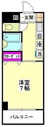 ベルトピアエグゼ福岡[305号室]の間取り