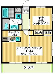 東京都杉並区永福1丁目の賃貸マンションの間取り