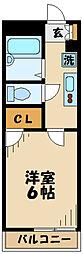 レオパレスグランドコート[404号室]の間取り