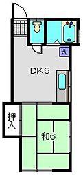堀井アパート[201号室]の間取り