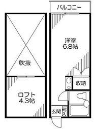 フラット・N[203号室]の間取り
