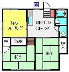 コーポ三代川(東)[201号室]の間取り