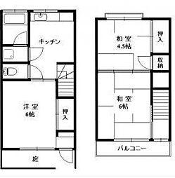 [一戸建] 東京都立川市富士見町2丁目 の賃貸【/】の間取り