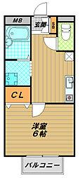 辰美ハイツ[1階]の間取り