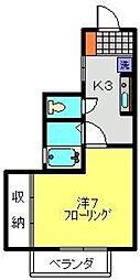 神奈川県横浜市港北区日吉7丁目の賃貸アパートの間取り