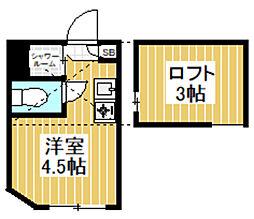 東京都杉並区梅里1丁目の賃貸アパートの間取り