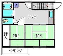 神奈川県横浜市西区赤門町2丁目の賃貸アパートの間取り