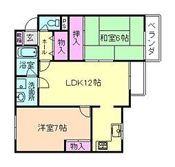 PAO南桜塚[1階]の間取り