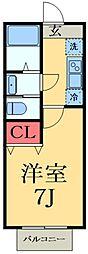 東葉高速鉄道 八千代中央駅 徒歩10分の賃貸アパート 2階1Kの間取り