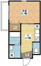 セントポリア泉[1階]の間取り