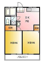 第1藤野マンション[2階]の間取り