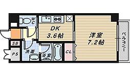 コプリー北花田[7階]の間取り