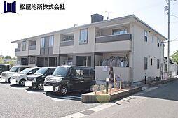 愛知県豊橋市天伯町字東沢の賃貸アパートの外観