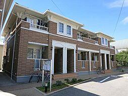 愛知県岡崎市上佐々木町字梅ノ木の賃貸アパートの外観