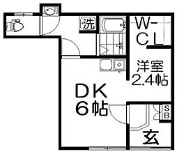 忍ヶ丘ハイツ[1階]の間取り