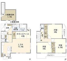 JR埼京線 与野本町駅 徒歩10分の賃貸一戸建て 1階3LDKの間取り