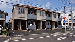 栃木県下野市田中の賃貸アパートの外観