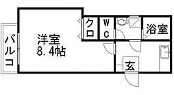 クレフラスト香椎駅東IIA棟[103号室]の間取り