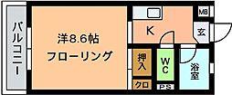 オーシャン5[103号室]の間取り
