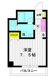 東京都練馬区中村1丁目の賃貸マンションの間取り