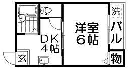 クイーン桜木[3階]の間取り