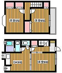 [テラスハウス] 東京都板橋区赤塚2丁目 の賃貸【東京都 / 板橋区】の間取り