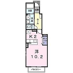 ヴィレッジハウスV[1階]の間取り