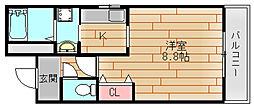 サンライフカガヤ[3階]の間取り