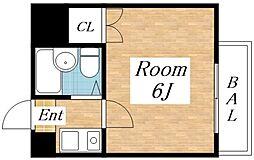 プチロワイヤルAJ[4階]の間取り