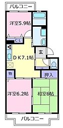 Maison KiRaRa[3階]の間取り