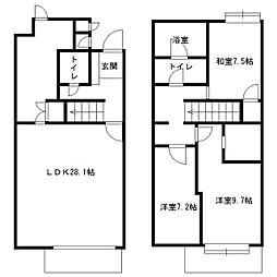 北海道札幌市中央区宮ケ丘3丁目の賃貸マンションの間取り