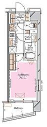 京急空港線 糀谷駅 徒歩4分の賃貸マンション 3階1Kの間取り