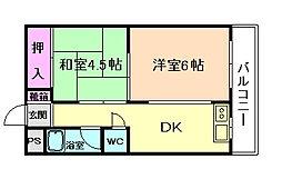 あけみマンション[3階]の間取り