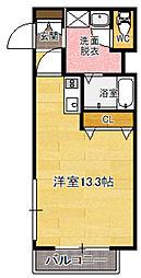 福岡県福岡市中央区平尾1丁目の賃貸マンションの間取り