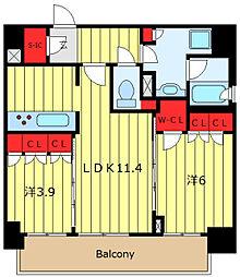 ORME COURT NIPPORI EAST 10階2LDKの間取り