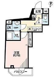 小田急小田原線 下北沢駅 徒歩17分の賃貸マンション 3階1Kの間取り