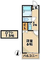 京王相模原線 京王多摩センター駅 バス11分 一本杉公園下車 徒歩2分の賃貸アパート 1階1Kの間取り