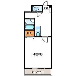 エトワールNAKAYAMAVI 1階1Kの間取り