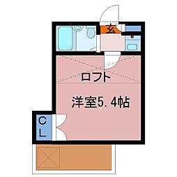 埼玉県春日部市粕壁東6丁目の賃貸アパートの間取り