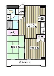 第2高桐マンション[2階]の間取り