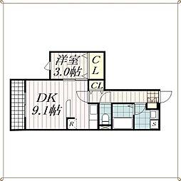 グランコート稲毛[1階]の間取り