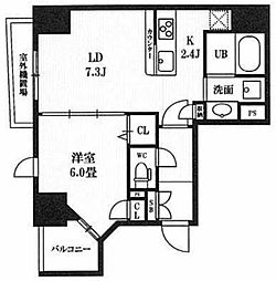 レクシード神田[8階]の間取り
