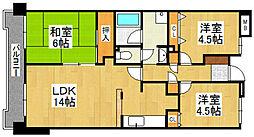 G−ONE姪浜駅南WEST[702号室]の間取り